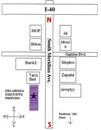 I 40 Oklahoma Map.Map Oklahoma Executive Printing